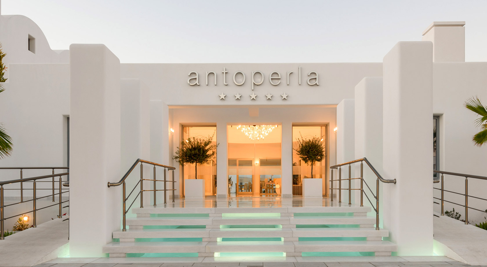 The Entrance of Antoperla Luxury Hotel & Spa in Santorini Greece