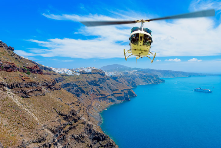 Helicopter Tour in Santorini – The Mediterranean Divinity Meets Cycladic Grandeur